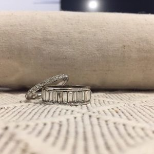 Chloe + Isabel Baguette Style Ring Set, size 9